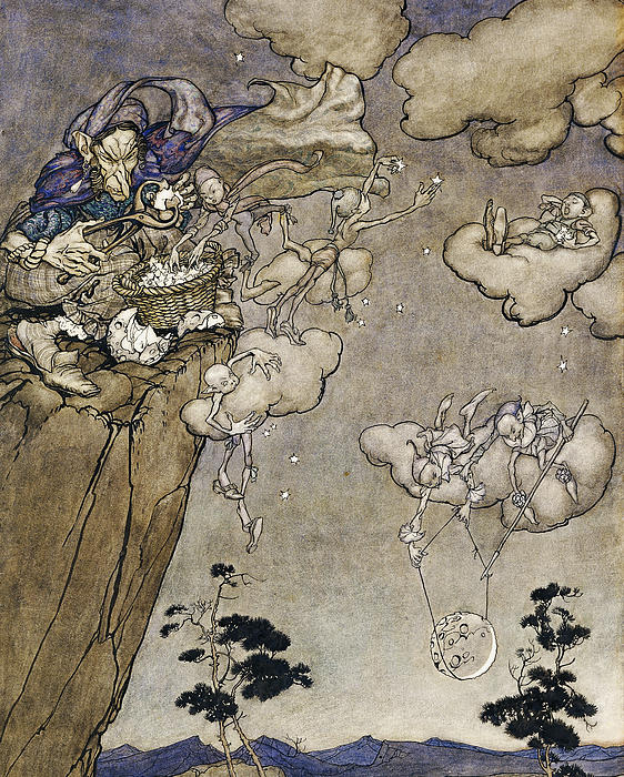 They Were Ruled By An Old Squaw Spirit Painting by Arthur Rackham