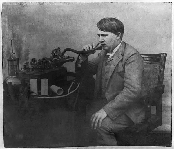 Thomas Photograph - Thomas Alva Edison 1892 by Bill Cannon