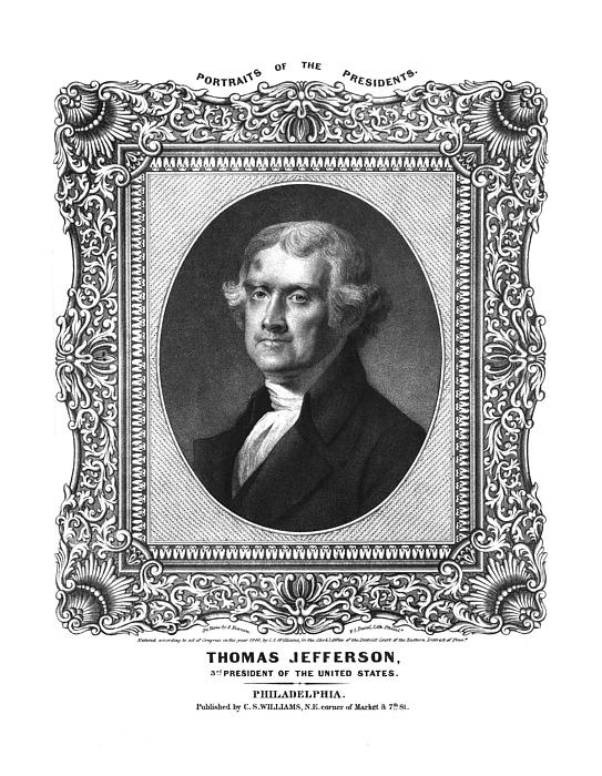 United States Drawing - Thomas Jefferson by Aged Pixel