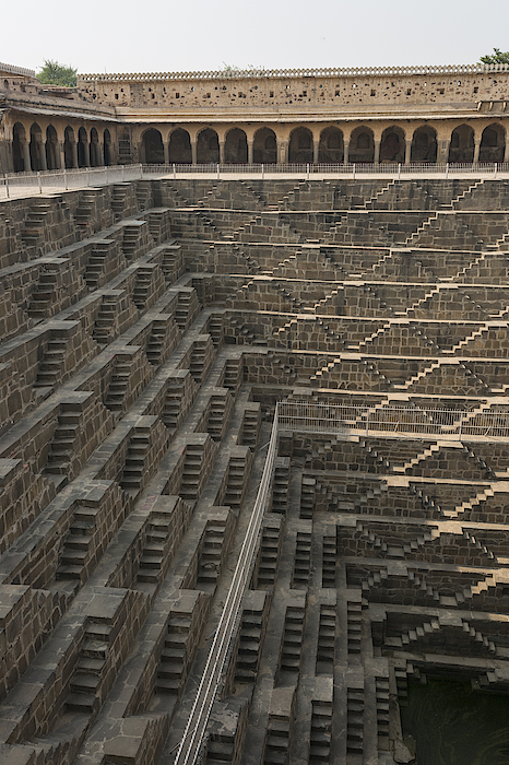 Thousands Of Stairs Line The Walls Of The Chand Baori Stepwell. Photograph by Kelley Miller