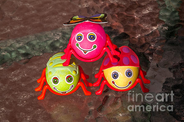 Easter Photograph - Three Easter Egg Bugs by Sue Smith