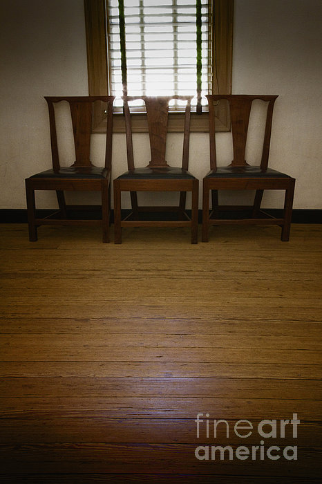 Chairs Photograph - Three by Margie Hurwich