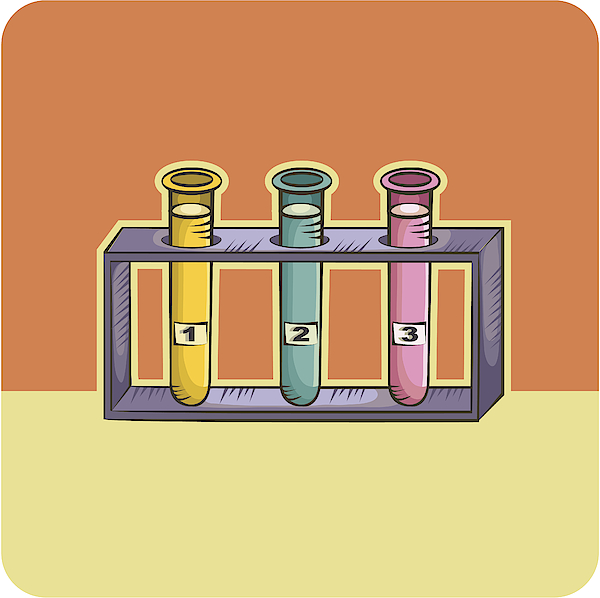 Three Test Tubes Drawing by Imagezoo