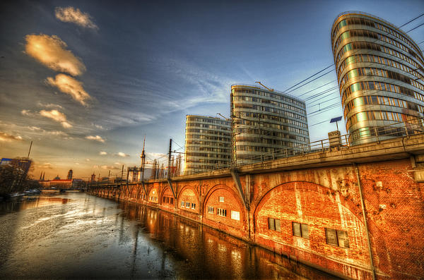 Ancient Digital Art - Three Towers Berlin by Nathan Wright