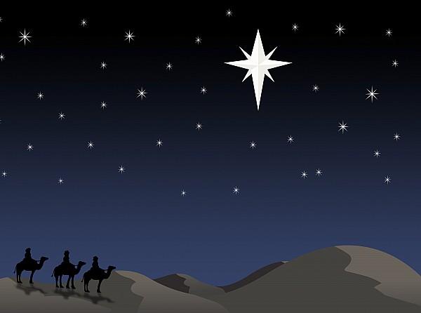 Bethlehem Photograph - Three Wisemen Following Star by Daniel Sicolo