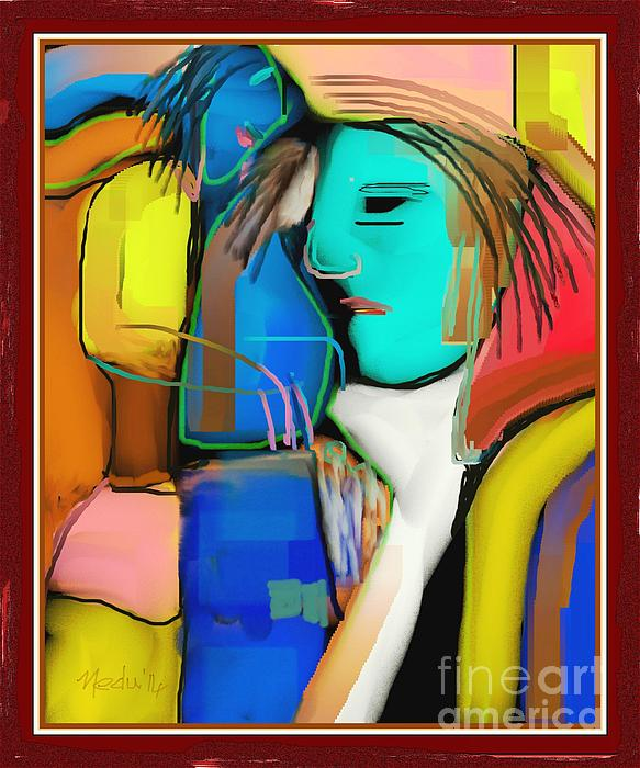 Canvas Prints Painting - Three Women Conversing by Nedunseralathan R