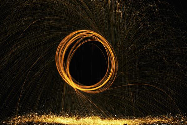 Fire Photograph - Through The Fire And Flames by Diaae Bakri