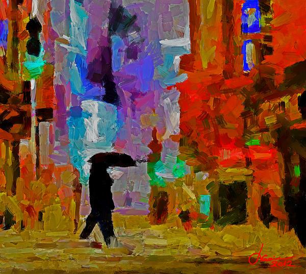 City Lights Digital Art - Thursday Night Tnm by Vincent DiNovici