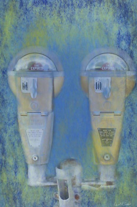Parking Meters Digital Art - Time Expired by David Simons