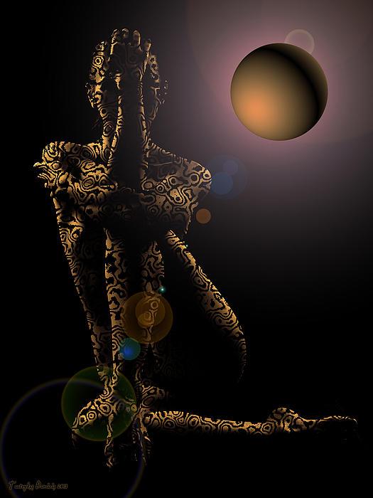 Tiptop Shape Night. 2013 60/80 Cm.  Digital Art by Tautvydas Davainis