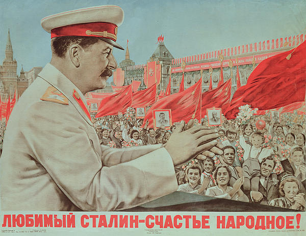 To Our Dear Stalin Painting - To Our Dear Stalin by Russian School