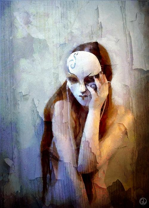 Woman Digital Art - To Show The Body But Hide The Face by Gun Legler