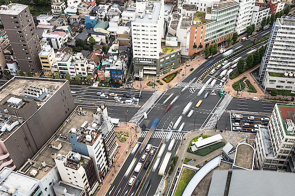 Tokyo Streets From Above Photograph by @ Didier Marti