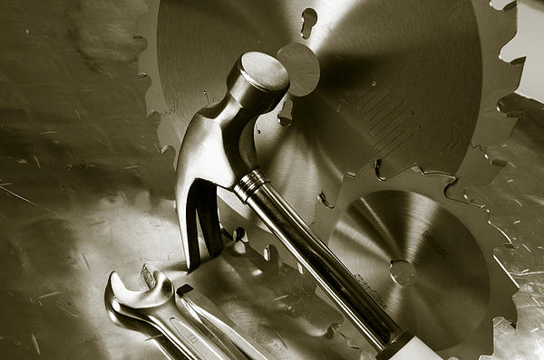 Hammer Photograph - Tools And Stainless-steel Idea by Christian Lagereek