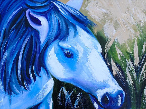 Horse Painting - Tornado by Melissa Torres