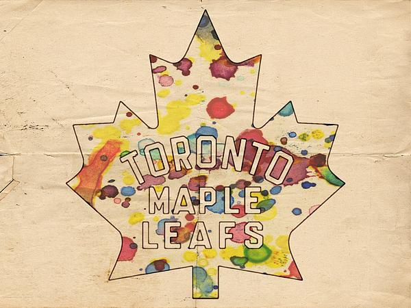 Toronto Maple Leafs Painting - Toronto Maple Leafs Vintage Poster by Florian Rodarte