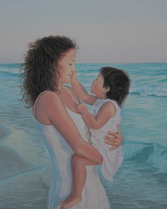 Realistic Pastel - Touched By An Angel by Holly Kallie