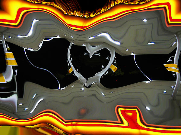 Abstract Digital Art - Tough Love by Wendy J St Christopher