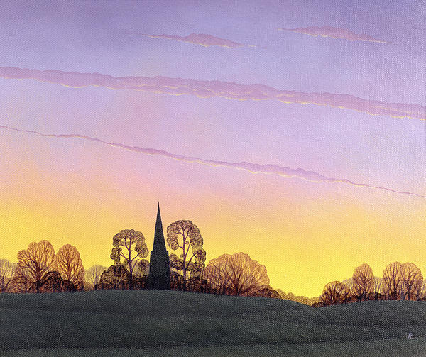 Hills Painting - Towards Grandborough by Ann Brian