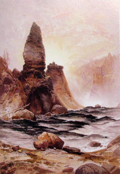 Thomas Moran Digital Art - Tower Falls At Yellowstone by Thomas Moran