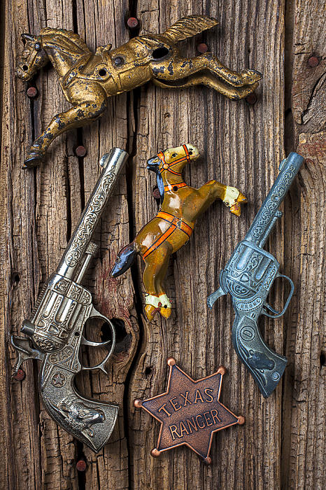 Toy Photograph - Toy Guns And Horses by Garry Gay