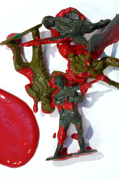 Aggression Photograph - Toy Soldiers In A Pool Of Blood by Amy Cicconi