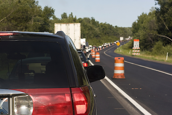 Traffic On The Roadwork Distance Photograph by Alex Potemkin