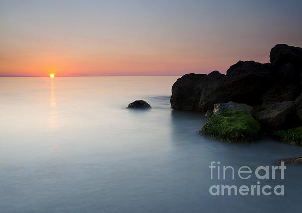 Beach Photograph - Tranquil Sunset by Mike  Dawson