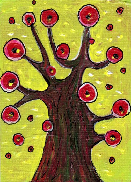 Abstract Painting - Tree Sentry by Anastasiya Malakhova