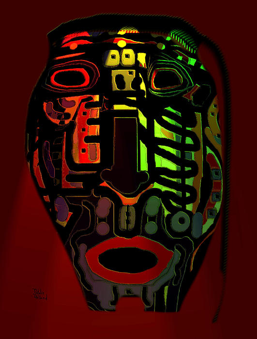 Mask Mixed Media - Tribal Mask by Natalie Holland