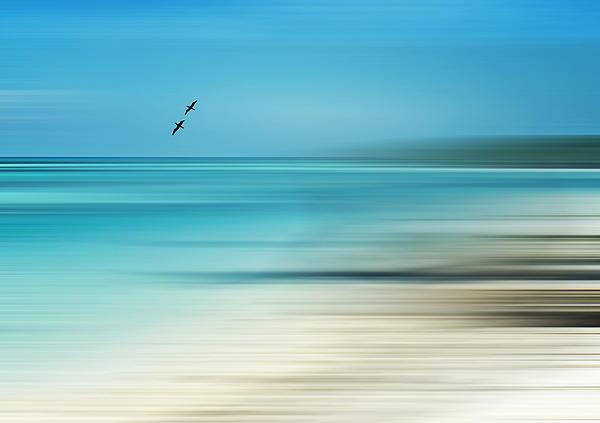 Beach Photograph - Tropical Cove Horizon by Deborah Smith