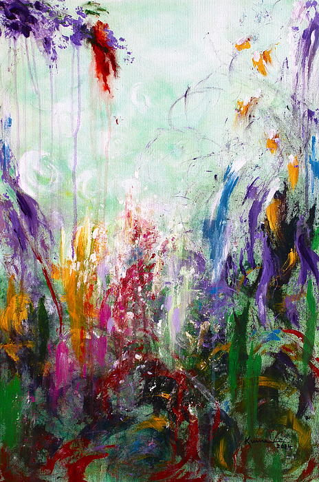 Colorful Painting - Tropical Journey by Kume Bryant