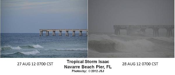 Difference Photograph - Tropical Storm Isaac Difference In A Day by Jeff at JSJ Photography