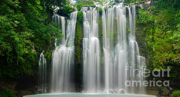 Waterfall Photograph - Tropical Waterfall by Oscar Gutierrez