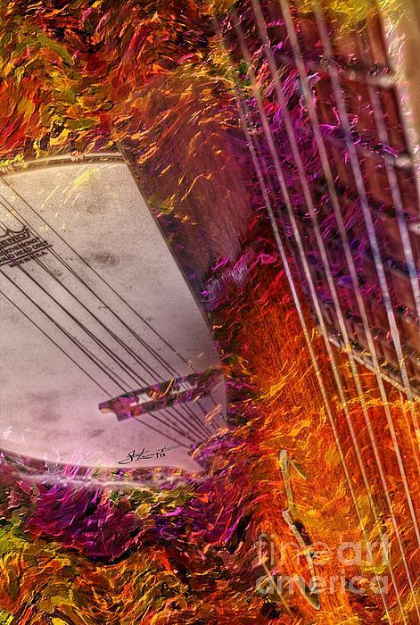 Acoustic Photograph - Truly Southern Digital Banjo And Guitar Art By Steven Langston by Steven Lebron Langston