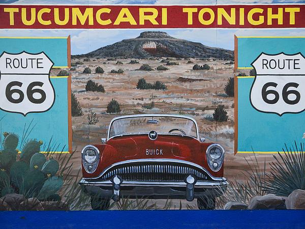 Tucumcari Photograph - Tucumcari Tonight Mural On Route 66 by Carol Leigh