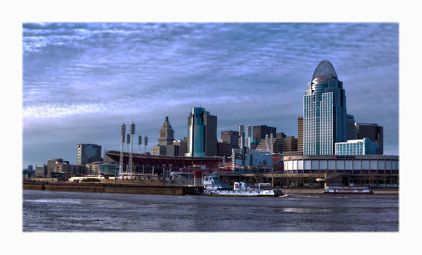 Tug Boat Photograph - Tug Boat Passing Great American by Tom Climes