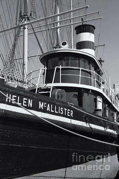 Clarence Holmes Photograph - Tugboat Helen Mcallister II by Clarence Holmes