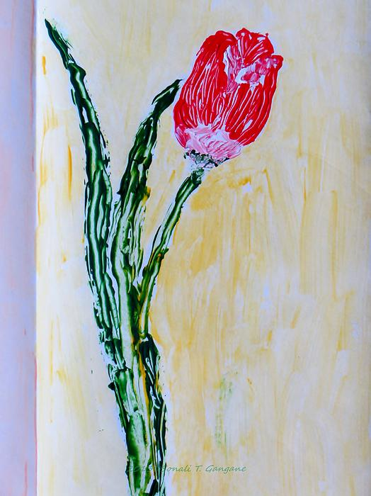 Netherland Floral Painting - Tulip For You by Sonali Gangane