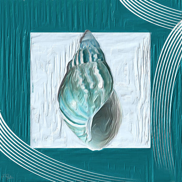 Seashell Painting - Turquoise Seashells Xx by Lourry Legarde