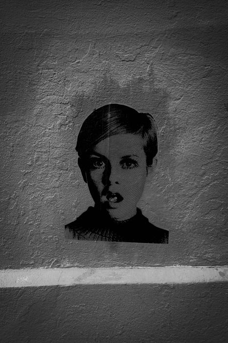 Twiggy Photograph - Twiggy Street Art by Louis Maistros