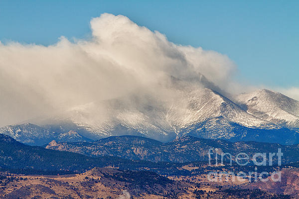 Longs Peak Photograph - Twin Peaks Winter Weather View  by James BO  Insogna
