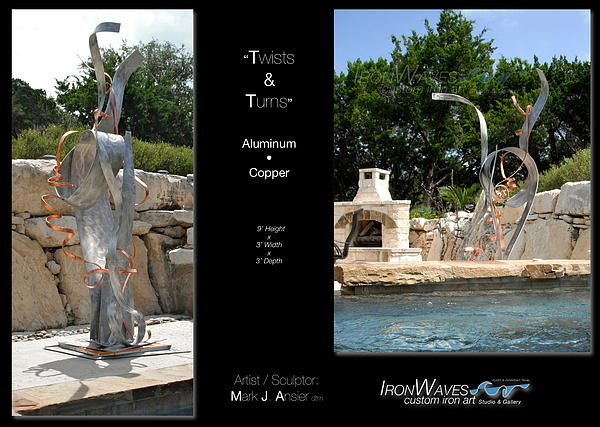 Brochure Sculpture - Twists And Turns by Mark Ansier