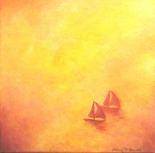 Sail Painting - Two Hearts by Haley Melander
