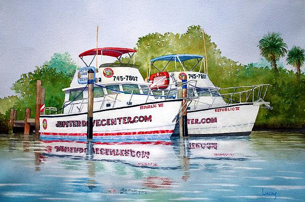 Scuba Painting - Two If By Sea by Jeff Lucas