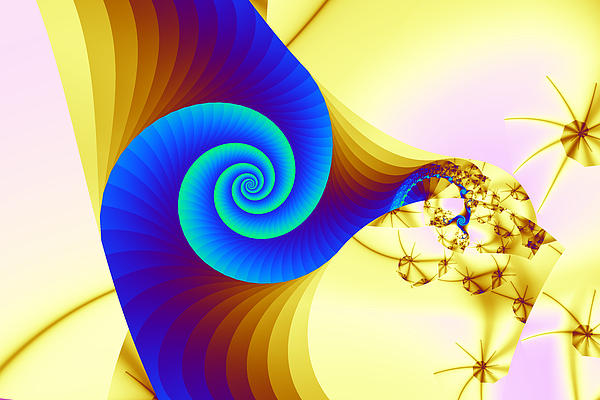Abstract Digital Art - Two Kinds Of Spiral by Mark Eggleston