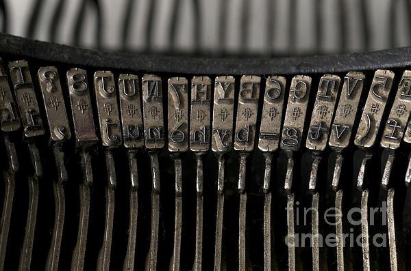 Close-up Photograph - Typewriter by Bernard Jaubert