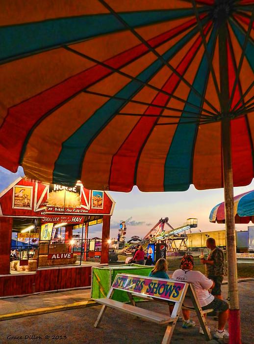 County Fair Photograph - Umbrella View by Grace Dillon