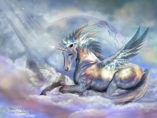 Unicorn Mixed Media - Unicorn Of Peace by Carol Cavalaris