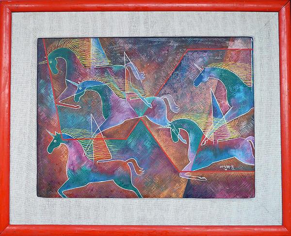 Roberto Painting - Unicorns by Roberto Ugalde